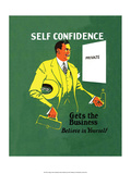 Vintage Business Self Confidence - Believe in Yourself Pósters