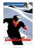 Retro Skiing Poster Arte