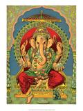 Vintage Indian Bazaar, Ganesha Print