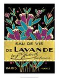 Vintage Art Deco Label, Eau de Vie de Lavande Plakater