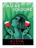 Vintage Art Deco Label, Eau de Cologne, Kaisva, Paris Kunst