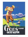 Vintage Golf Poster Pôsters