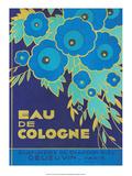 Vintage Art Deco Label, Eau de Cologne du Chardon Bleu Plakater