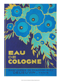 Vintage Art Deco Label, Eau de Cologne du Chardon Bleu 高画質プリント