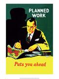 Vintage Business Planned Work Puts You Ahead Schilderijen