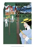 Vintage Tennis Poster, 1896 Print
