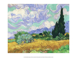 Wheatfield with Cypress, 1889 Art by Vincent van Gogh