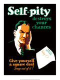 Vintage Business Self-Pity Pósters