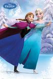 Frozen- Ana And Elsa Skate Prints