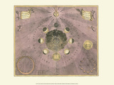 Celestial Map Kunstdrucke von Andreas Cellarius