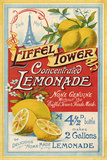 Eiffel Tower Concentrated Lemonade, 1900 Giclée-tryk af  The Vintage Collection