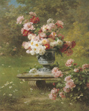 Peonies in a Wild Garden Giclée-tryk af Louis Marie Lemaire