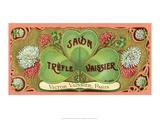 Vintage Art Deco Label, Savon Trefle Vaissier Print