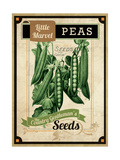 Vintage Peas Seed Packet Giclée-vedos