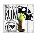 Drinking Rum Reproduction procédé giclée
