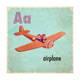 Vintage ABC- A Giclee-trykk