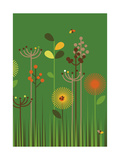 Green Meadow Giclee Print by Dicky Bird