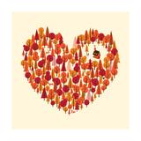 Coração Selvagem Impressão giclée por Chris Wharton