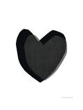 Black Heart Giclee Print by Seventy Tree