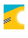 Big Yellow Taxi: Joni Mitchell Giclée-tryk af Christophe Gowans