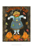 Fall Scarecrow II Art by Sue Ditzian