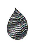 Big Drop Brights Giclee Print by Seventy Tree