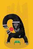 King Kong Ping Pong Giclée-tryk af Chris Wharton