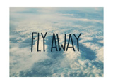 Fly Away Clouds Stampa giclée di Leah Flores
