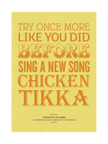 Sing a New Song Chicken Tikka Giclee Print by Peter Reynolds