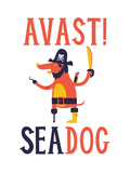 Sea Dog Impressão giclée por Chris Wharton
