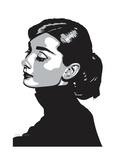 Audrey Hepburn - Always Giclée-vedos tekijänä Emily Gray
