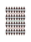 Aztec Triangles Giclee Print by Seventy Tree