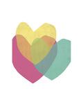 Bright Hearts Lámina giclée por Seventy Tree