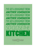 I've Got a Doughnut from Another Dimension Giclée-Druck von Peter Reynolds