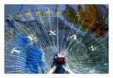 Texas Ferris Wheel Giclee-trykk av Sisa Jasper