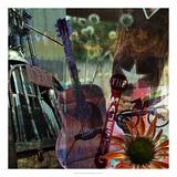 Guitar Collage Giclee Print by Sisa Jasper
