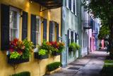 Rainbow Row II, Charleston South Carolina Fotografie-Druck von George Oze