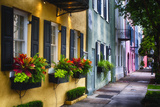 Rainbow Row II, Charleston South Carolina Lámina fotográfica prémium por George Oze