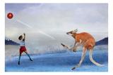 Kangaroo Kickball Lámina por Nancy Tillman