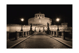 Quiet Night at Castle Sant Angelo, Rome, Italy Photographic Print by George Oze
