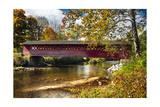 Burt Henry Covered Bridge, Vermont Fotografie-Druck von George Oze