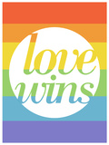 Fare la storia - Love Wins (sticker murale) Decalcomania da muro