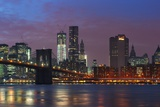Lower Manhattan Skyline at Dusk. Photographic Print by Jon Hicks