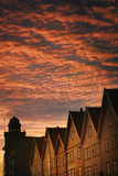 Row Houses in Bryggen Photographic Print by Jon Hicks