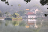 View of Temple across Kandy Lake Photographic Print by Jon Hicks