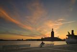 Stockholm Stadshuset at Sunset Photographic Print by Jon Hicks