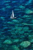 Dinghy off Bonifacio Photographic Print by Jon Hicks