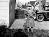 Young Boy Poses with His Formal Coat On, Ca. 1932. Photographic Print by Kirn Vintage Stock