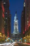 Philadelphia City Hall. Fotografisk tryk af Jon Hicks