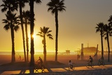The South Bay Bicycle Trail at Sun Set. Photographic Print by Jon Hicks